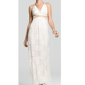 Twelfth Street Cynthia Vincent Lace Maxi Leather